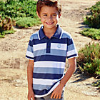 more details on Cherokee Boys Blue Stripe Polo Top.