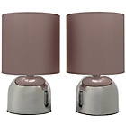more details on ColourMatch Pair of Touch Table Lamps - Cafe Mocha.