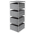 more details on ColourMatch 4 Drawer Storage Unit - Dove Grey