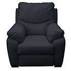more details on Collection Sorrento Leather Power Recliner Chair - Black.