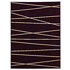 more details on Linear Rug 120x160cm - Plum.