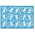more details on Kit for Kids Nursery Rug - Blue with White Stars & Cars.