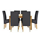 more details on Heart of House Clevedon Ext Table & 6 Black Skirted Chairs.