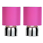 more details on ColourMatch Pair of Touch Table Lamps - Funky Fuchsia.
