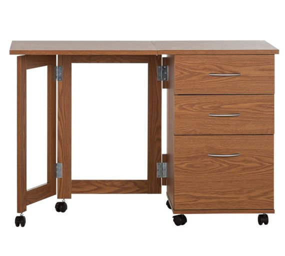 Buy dino space saving desk oak effect at your online shop for desks and Argos home office furniture uk