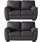 more details on Milano 2 Fabric Regular Sofas - Charcoal.