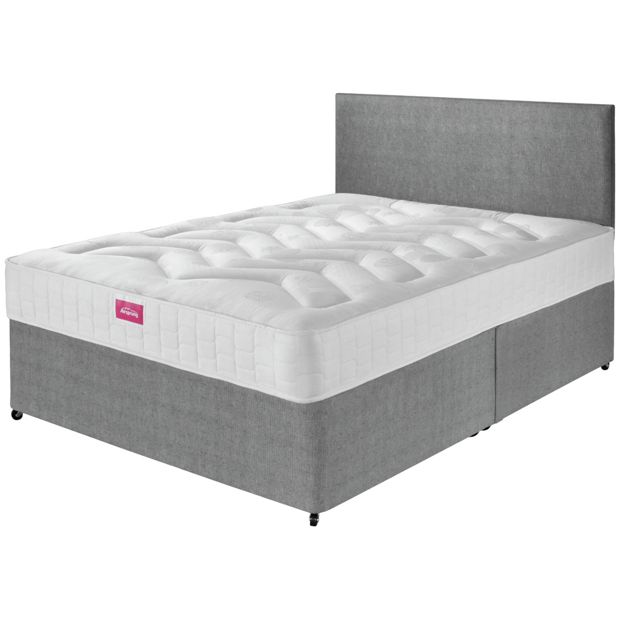 Buy airsprung elmdon deep ortho small double divan bed at for Small double divan bed with headboard