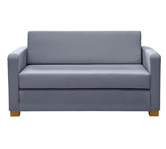 Buy home lucy 2 seater fabric sofa bed grey at for Sofa bed argos