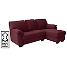 more details on Collection Milano Leather Right Chaise Longue Sofa - Red.