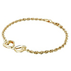 more details on 9ct Gold Double Heart Twisted Rope Bracelet.