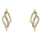 more details on 9ct Gold 0.10ct tw Diamond Twist Knot Stud Earrings.