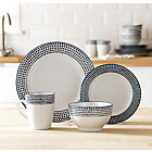 more details on Heart of House Paradise 16 Piece Stoneware Dinner Set- Blue.