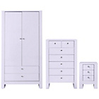 more details on Vienna 3 Piece 2 Door Wardrobe Package - Soft Lilac.