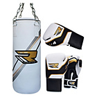 more details on RDX Junior Gold Punchbag with Gloves and Chains
