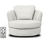 more details on Milano Leather Swivel Chair - Ivory.