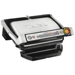 Tefal GC713D40 2000W Stainless Steel OptiGrill Plus Health Grill (Silver)