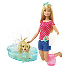 more details on Barbie Splish Splash Pup Playset.