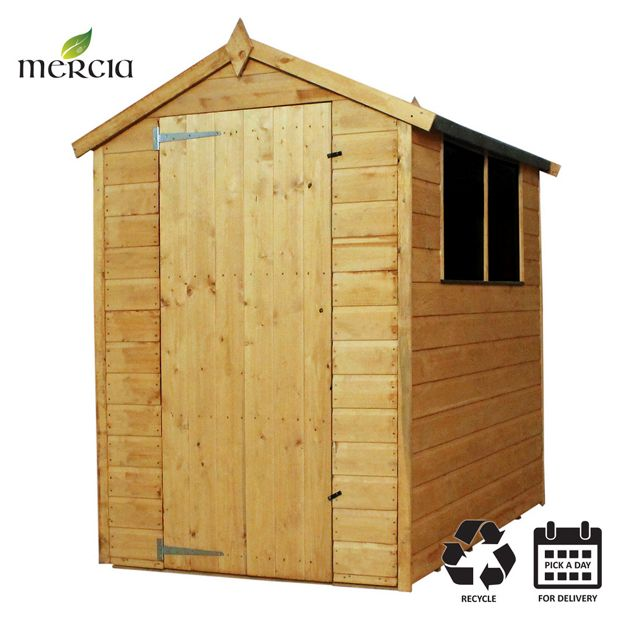 Buy Mercia Shiplap Apex Wooden Garden Shed