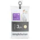more details on simplehuman Bin Liner Code Q 3 x 20 Pack 60 Liners.