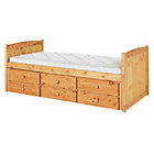 more details on Frankie Pine Cabin Bed with Trundle and Elliott Mattress.