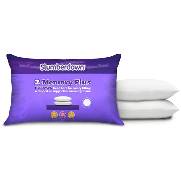 Slumberdown Traditional Memory Foam Pillow Review : Buy Slumberdown Memory Foam Plus Pair of Pillows at Argos.co.uk - Your Online Shop for Pillows ...