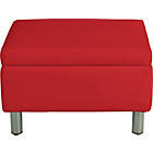 more details on ColourMatch Moda Fabric Footstool - Poppy Red.
