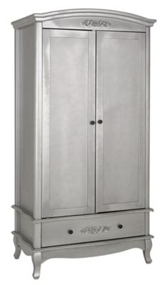 Buy Collection Sophia 2 Door 1 Drawer Wardrobe Silver At