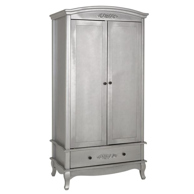 Buy Collection Sophia 2 Door 1 Drawer Wardrobe Silver At Your Online Shop For