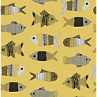 more details on Graham and Brown Fishes Wallpaper Sample - Mustard.