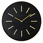more details on Gold and Black Cased Wall Clock.