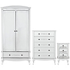 more details on Sophia 3 Piece 2 Door Wardrobe Package - White.