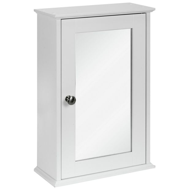 Buy Simple Value 1 Door Mirror Core Cabinet White At Your Online Shop For