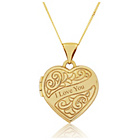 more details on 9ct Gold Engraved Heart Locket Pendant.