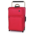 more details on IT Worlds Lightest Red Soft 2 Wheel Suitcase & Travel Bag