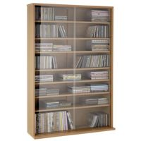 Collection Media Sliding Glass Door Unit (Oak Effect)