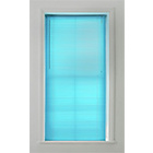 more details on ColourMatch PVC Venetian Blind 120x160cm - Crystal Blue.