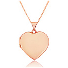 more details on 9ct Rose Gold Heart Locket Pendant.