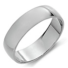 more details on Palladium Grade 950 Heavy D-Shape Wedding Ring.