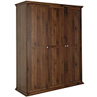 more details on HOME Canterbury 3 Door Wardrobe - Walnut effect.