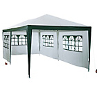 more details on HOME Waterproof 3m x 6m Garden Gazebo with Side Panels.