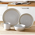 more details on Heart of House Purton 16 Piece Stoneware Dinner Set - White.