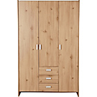 more details on New Capella 3 Door 3 Drawer Wardrobe - Pine effect.