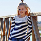 more details on Cherokee Girls Stripe and Gemstone Top - 5-6 Years.