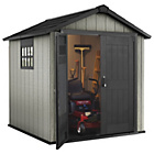 more details on Keter Apex Paintable Plastic Garden Shed - 7 x 7ft.