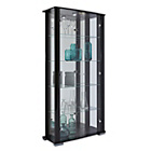 more details on HOME Stella 2 Glass Door Display Cabinet - Black Gloss.
