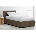 more details on Hygena Hendry Single Ottoman Bed Frame - Latte.