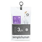 more details on simplehuman Bin Liner Code D 3 x 20 Pack 60 Liners.