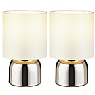 more details on ColourMatch Pair of Touch Table Lamps - Cotton Cream.
