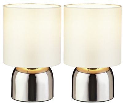 Buy Colourmatch Pair Of Touch Table Lamps Cotton Cream