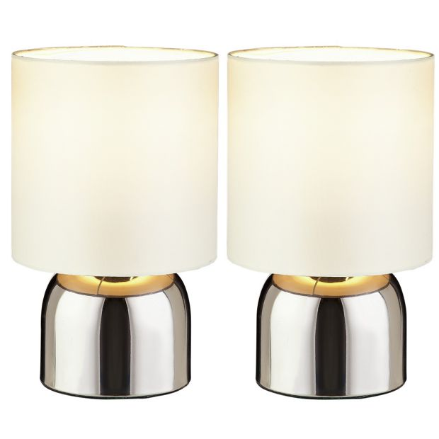 Buy colourmatch pair of touch table lamps cotton cream for Table lamps argos